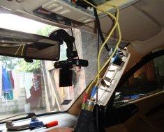 Укладка проводки под потолком авто
