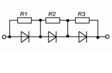 Последовательное соединение диодов