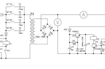 Более сложная схема для самодельного прибора