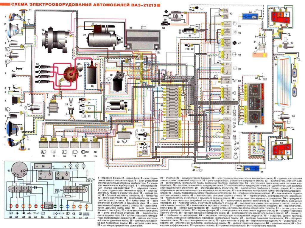 Подробная электросхема Нивы