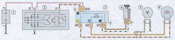 Shema elektrosoedinenij generatora - Схема генератора ваз 21074 инжектор